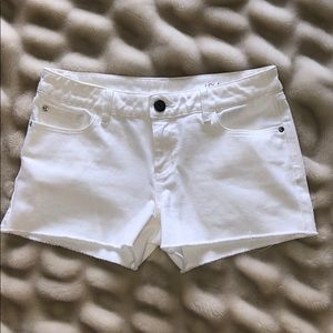 """DL1961 white """"LOLA"""" shorts"""